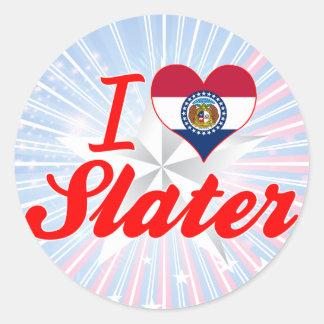 I Love Slater, Missouri Round Stickers