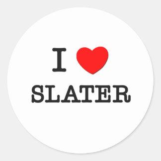I Love Slater Stickers