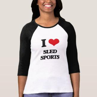 I Love Sled Sports T-shirt