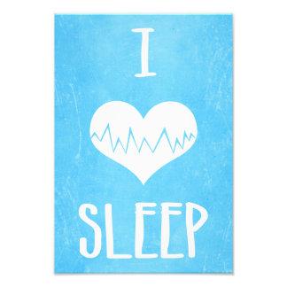 I Love Sleep Photo Print