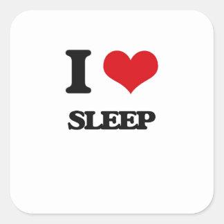 I love Sleep Square Sticker