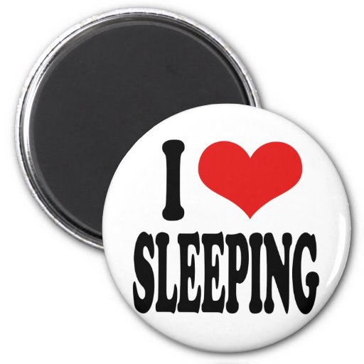 I Love Sleeping 2 Inch Round Magnet