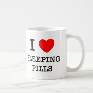 I Love Sleeping Pills Classic White Coffee Mug