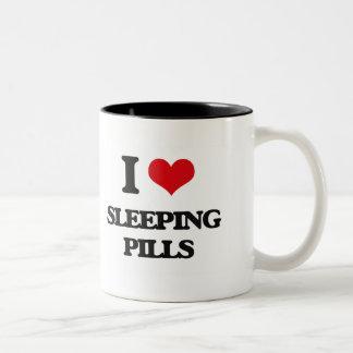 I love Sleeping Pills Two-Tone Coffee Mug