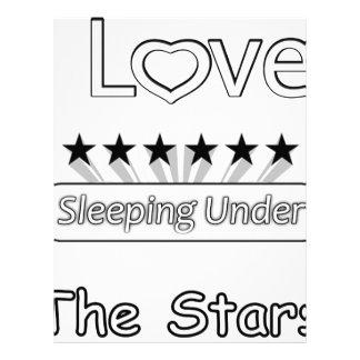 I Love Sleeping Under The Stars Letterhead