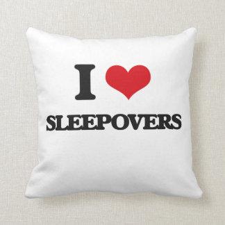 I love Sleepovers Throw Pillow