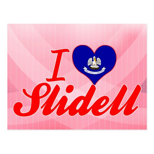 I Love Slidell Louisiana Postcard