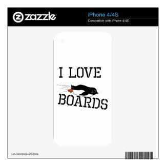 I Love Sliding Boards Skins For The iPhone 4S