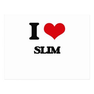 I love Slim Postcard