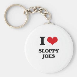 I Love Sloppy Joes Keychain
