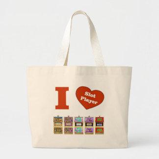 I LOVE Slot Machines Slot Player Tote Bag