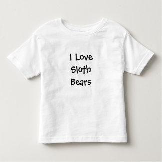 I love sloth bears tee shirt