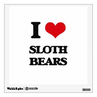 I love Sloth Bears Wall Decal