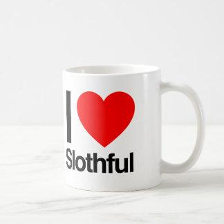 i love slothful coffee mug