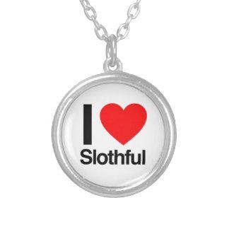 i love slothful necklaces