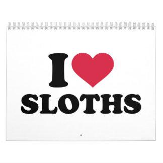 I love sloths calendar