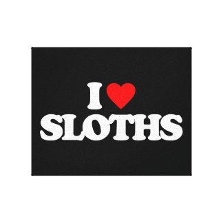 I LOVE SLOTHS GALLERY WRAPPED CANVAS