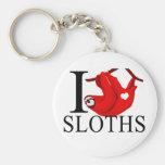 I Love Sloths Keychains