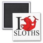 I Love Sloths Magnets