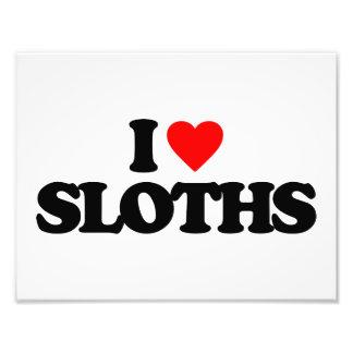I LOVE SLOTHS PHOTO