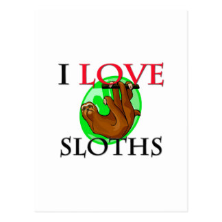 I Love Sloths Postcard