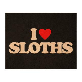 I LOVE SLOTHS CORK FABRIC