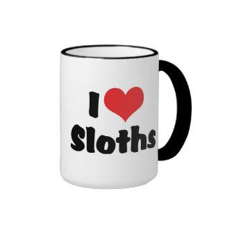 I Love Sloths Ringer Mug