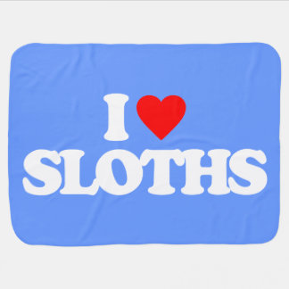 I LOVE SLOTHS STROLLER BLANKET
