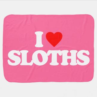 I LOVE SLOTHS SWADDLE BLANKET