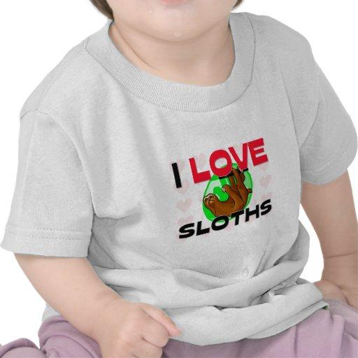 I Love Sloths T Shirt
