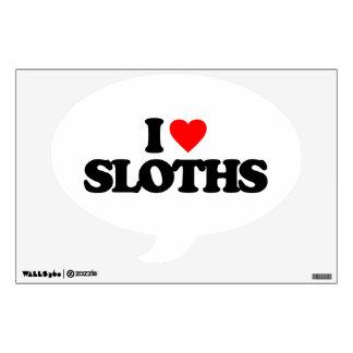 I LOVE SLOTHS WALL SKIN