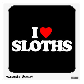 I LOVE SLOTHS ROOM STICKERS