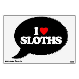 I LOVE SLOTHS WALL STICKER