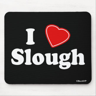 I Love Slough Mouse Pad