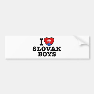 I Love Slovak Boys Bumper Sticker