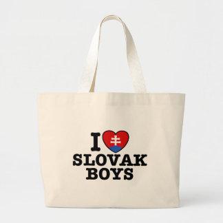 I Love Slovak Boys Canvas Bag