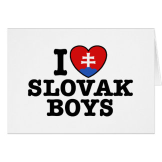 I Love Slovak Boys Card
