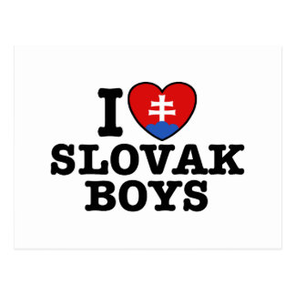 I Love Slovak Boys Postcard