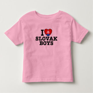 I Love Slovak Boys Toddler T-shirt