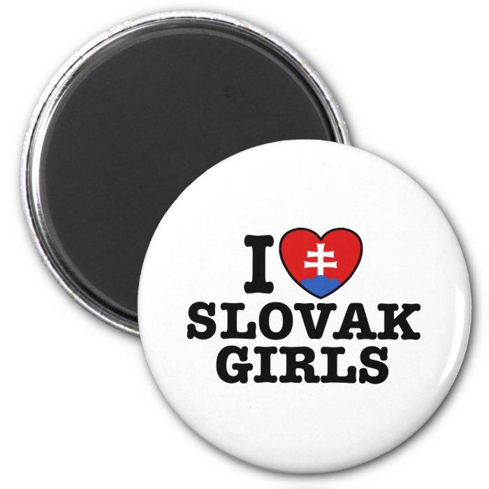 I Love Slovak Girls 2 Inch Round Magnet