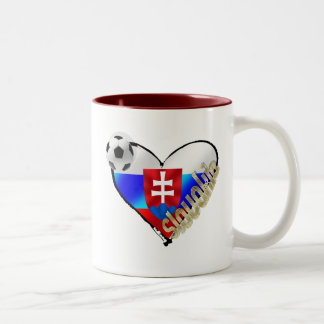 I love Slovakia Repre sooccer Slovakia flag heart Two-Tone Coffee Mug