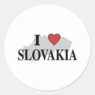 I Love Slovakia Round Sticker