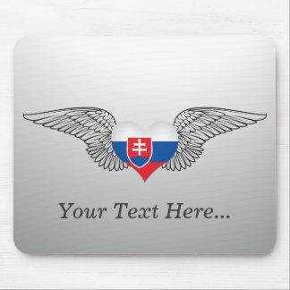 I Love Slovakia -wings Mouse Pad