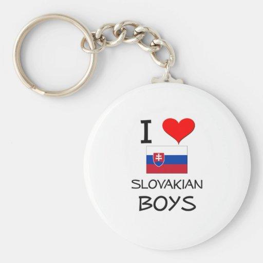 I Love Slovakian Boys Keychains