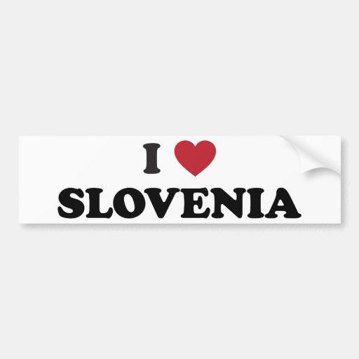 I Love Slovenia Car Bumper Sticker