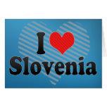 I Love Slovenia Greeting Card