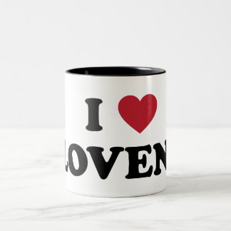 I Love Slovenia Two-Tone Coffee Mug