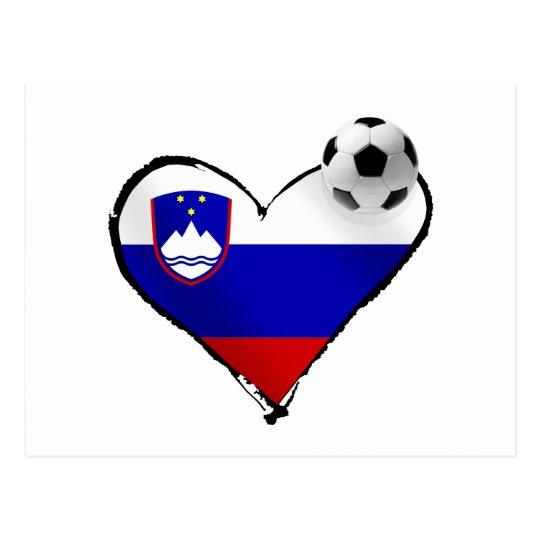 I love Slovenian football - Slovenia soccer love Postcard