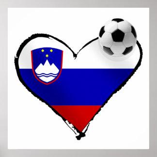 I love Slovenian football - Slovenia soccer love Print