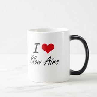 I Love SLOW AIRS 11 Oz Magic Heat Color-Changing Coffee Mug